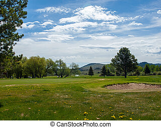 Golf Course in the Hills of Montana USA