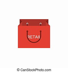 vector modern shopping retail icon on white background Eps10...