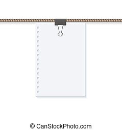 vector concept rope with blank on white.