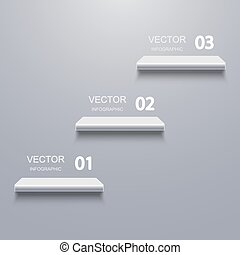Vector modern shelf infographic background.