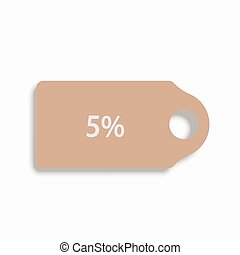 vector modern shopping icon on white background