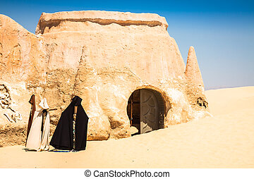Set for the Star Wars movie still stands in the Tunisian...
