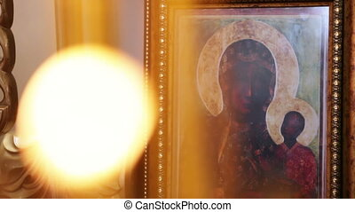 Orthodox icons mother with baby