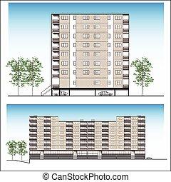 Facade-Habitation building