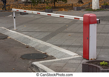 Security barrier for parking vehicles photo