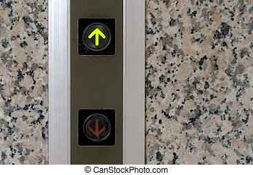 elevator button of up sign - It is the elevator button of up...