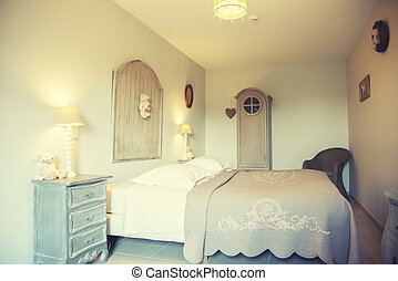 bedroom in country style - home bedroom in country style