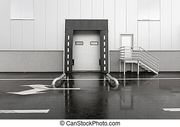 Loading bay - Loading dock for trucks at distribution...