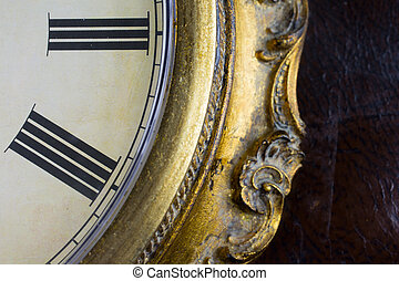Close up view on clock face