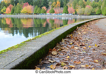 Vancouver seawall fall - Vancouvers seawall in the fall with...