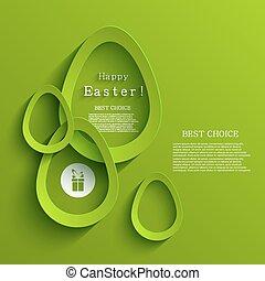 jajko, Wektor, Wielkanoc, nowoczesny, tło