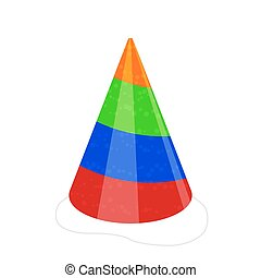 Vector party hat isolated on white