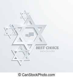 Vector star of David background Eps 10