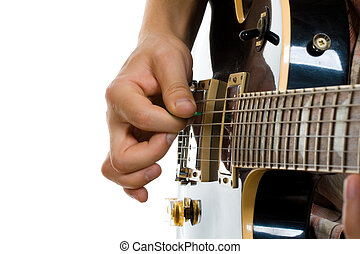 How to hold guitar pick playing electric guitar