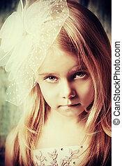 cute little girl - Art portrait of a pretty little girl...