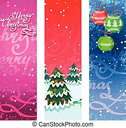 Christmas banners vertical - Merry christmas new year...