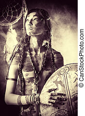 nationality - Portrait of the American Indian. Ethnicity and...