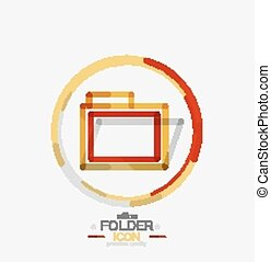 Folder logo, stamp. Accounting binder