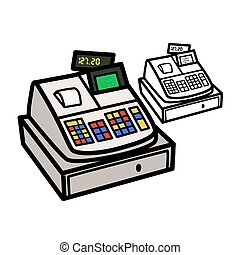 Cash Register - Vector illustration : Cash Register on a...