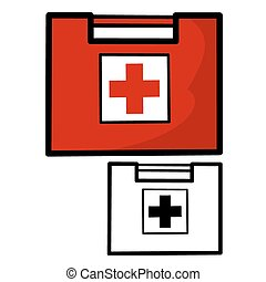 First Aid Kit - Vector illustration : First Aid Kit on a...