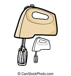 Hand Mixer - Vector illustration : Hand Mixer on a white...