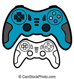 Joypad - Vector illustration : Joypad on a white background.