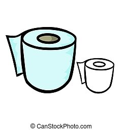 Toilet Paper - Vector illustration : Toilet Paper on a white...