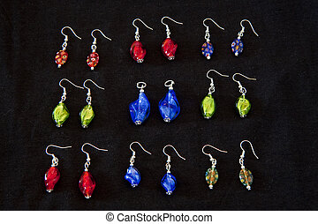 Murano Glass Earings - Sets of colorful murano glass...