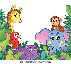 Image with jungle theme 8 - eps10 vector illustration