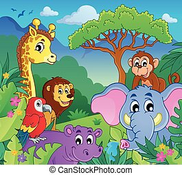 Image with jungle theme 9 - eps10 vector illustration.