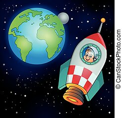 Image with space theme 4 - eps10 vector illustration.