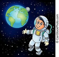 Image with space theme 6 - eps10 vector illustration.