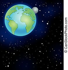 Image with space theme 5 - eps10 vector illustration.