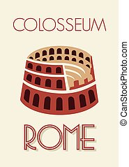 Rome colosseum poster
