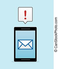 Phone Email Notification - Phone or tablet with email...