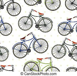 Retro bike pattern
