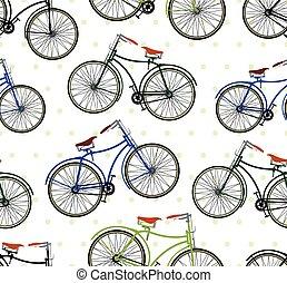 retro, Vélo, modèle,