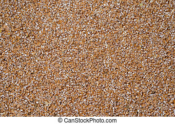delicious food background of brown buckwheat closeup