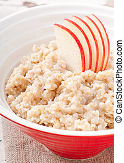Useful oatmeal with apples - Breakfast - Useful oatmeal with...