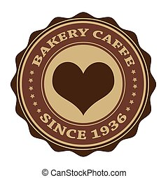 bakery caffe stamp - bakery caffe grunge stamp with on...