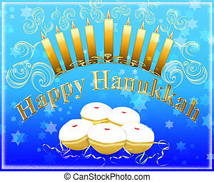 Happy Hanukkah greeting card - Hanukkah greeting card -...