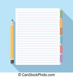 Notepad with Bookmarks