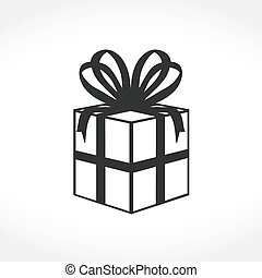 Gift Box Icon - Gift box icon, vector eps10 illustration