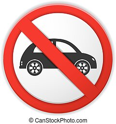 No Parking Sign - No parking prohibition sign, vector eps10...