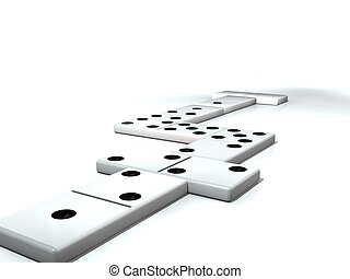 Dominoes on the table, play with and have fun