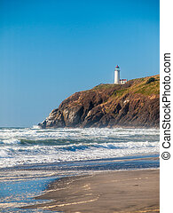 North Head Lighthouse on the Washington Coast USA