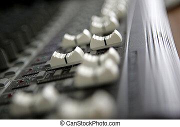 Sound Mixer - Sliders on Audio Mixer