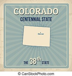 Colorado retro poster