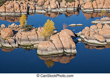 Fall at Watson Lake Prescott Arizona - scenic watson lake...