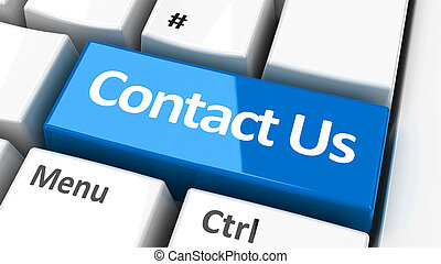 Computer keyboard contact us - Contact us key on the...